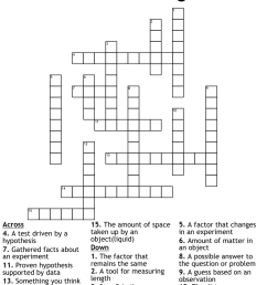 Scientific Investigation Crossword - WordMint [ 1060 x 1121 Pixel ]
