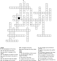 Literary Terms Crossword - WordMint [ 1217 x 1121 Pixel ]