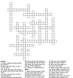 The War of 1812 Crossword - WordMint [ 1136 x 1121 Pixel ]