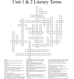 9th Grade Literary Terms Crossword - WordMint [ 1351 x 1121 Pixel ]