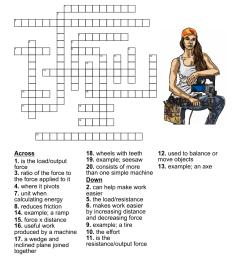 simple machines Crossword - WordMint [ 1135 x 1121 Pixel ]