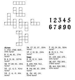 arithmetic sequences crossword puzzle - WordMint [ 1030 x 1121 Pixel ]