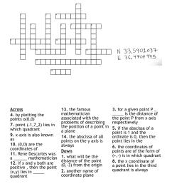 coordinate geometry Crossword - WordMint [ 1079 x 1121 Pixel ]