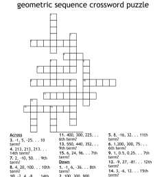 geometric sequence crossword puzzle - WordMint [ 1036 x 1121 Pixel ]