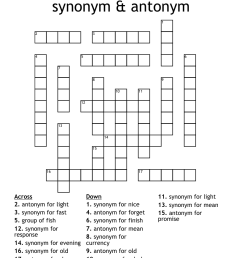 Synonyms and Antonyms Crossword - WordMint [ 1057 x 1121 Pixel ]