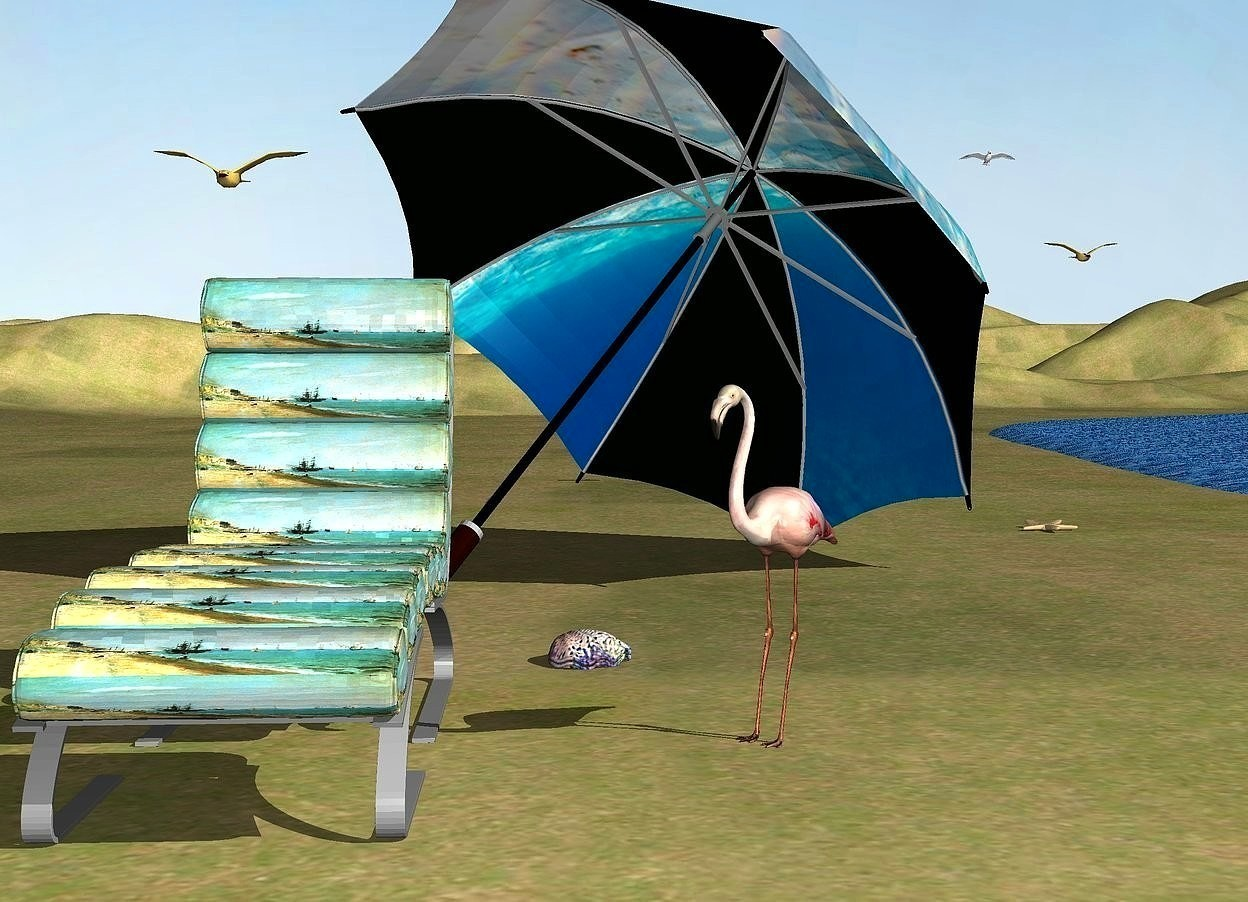 behind the chair app card table and padded chairs by seashore nanook on wordseye
