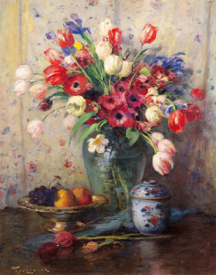 Spring Flowers and Ginger Jar
