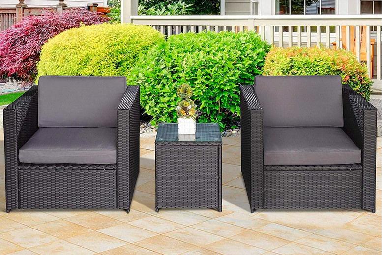 piece rattan garden furniture set deal