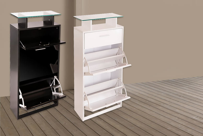 High Gloss Slimline Shoe Cabinet