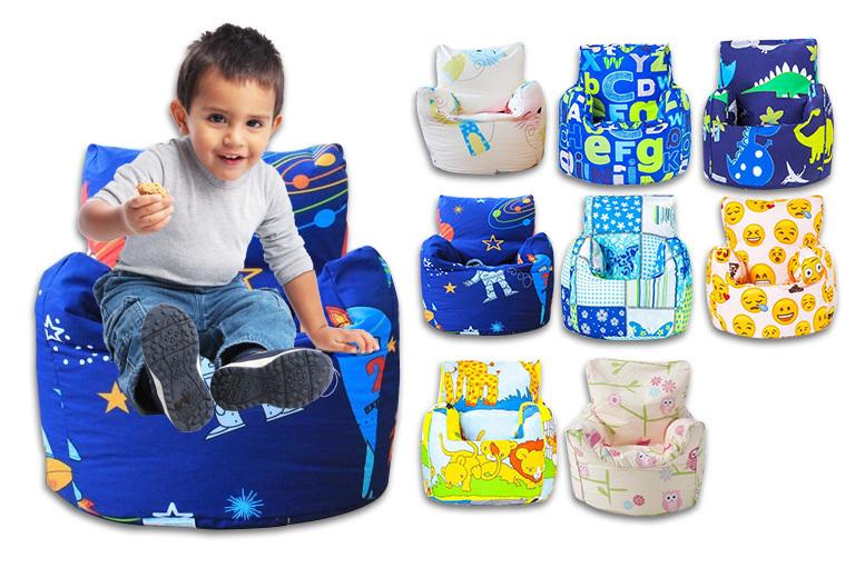 childrens bean bag chairs white river lawn concert children s chair 8 designs shop wowcher changing sofas printed