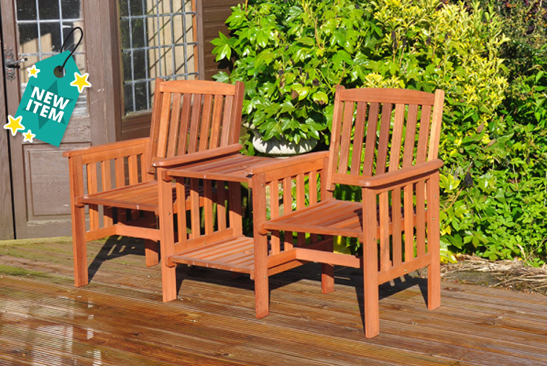 2 seater love chair recliner covers target hardwood garden furniture deals in shop chairs on the patio