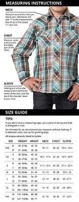 Wrangler boys shirts size chart also charts rh