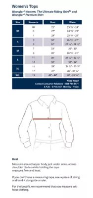 also size charts rh wrangler