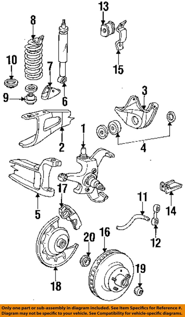 Ford E 150 Parts Diagram : parts, diagram, 84-91, E-150, Econoline, Wagon, Front-Wheel, Bearings, DOAZ1202B