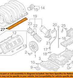 audi oem 00 08 a8 quattro engine intake manifold gasket 077129717q [ 1500 x 1197 Pixel ]