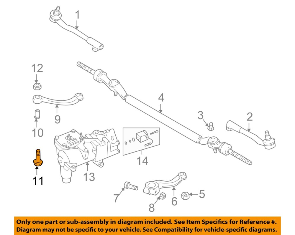 medium resolution of bmw oem 95 01 750il steering gear idler arm bolt 32201092452