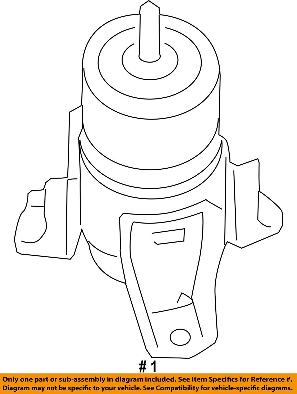 hight resolution of nissan oem 07 12 altima engine torque strut mount 112709n00b 2 2 of 2 see more