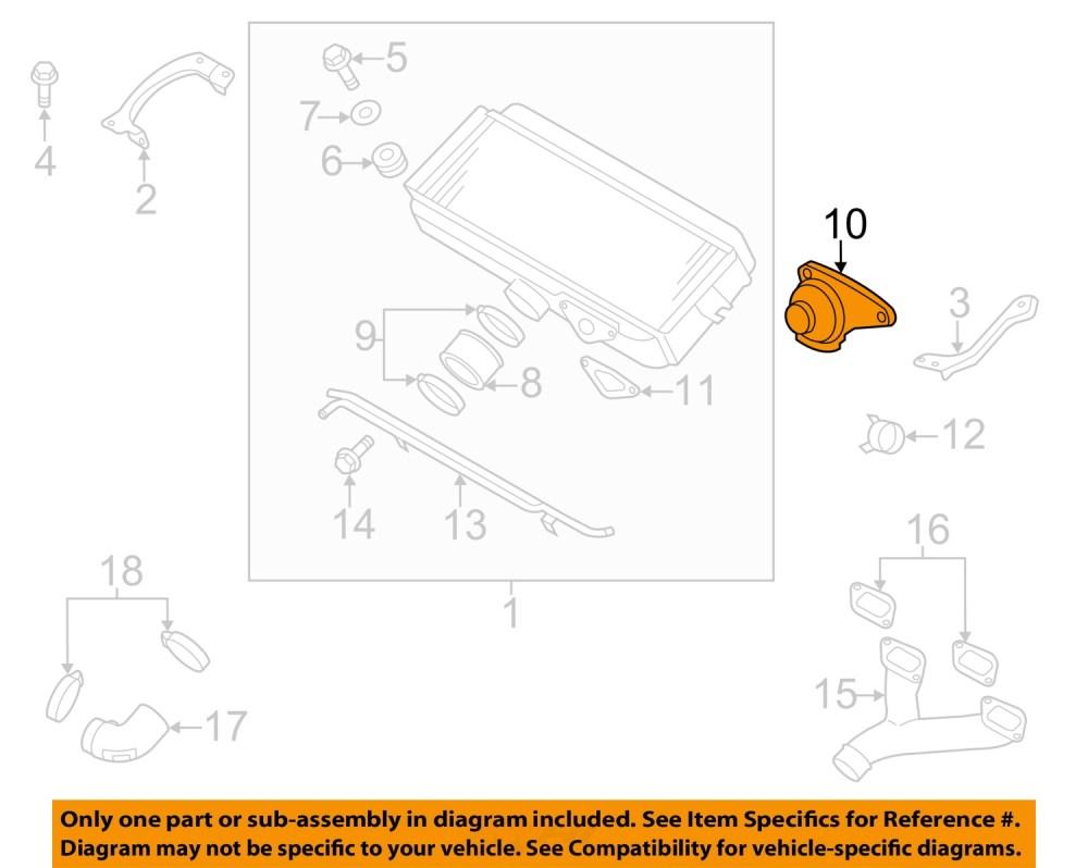 medium resolution of subaru oem 08 14 impreza 2 5l h4 intercooler by pass valve 14471aa143