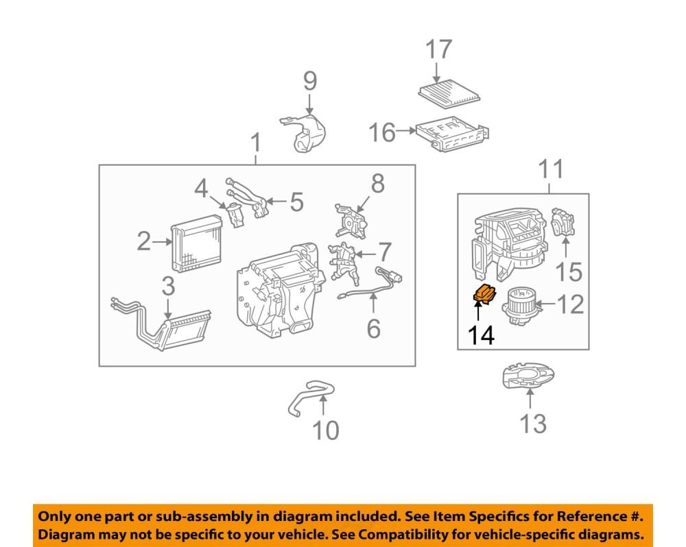 medium resolution of toyota oem 07 14 fj cruiser blower motor resistor 8713860280