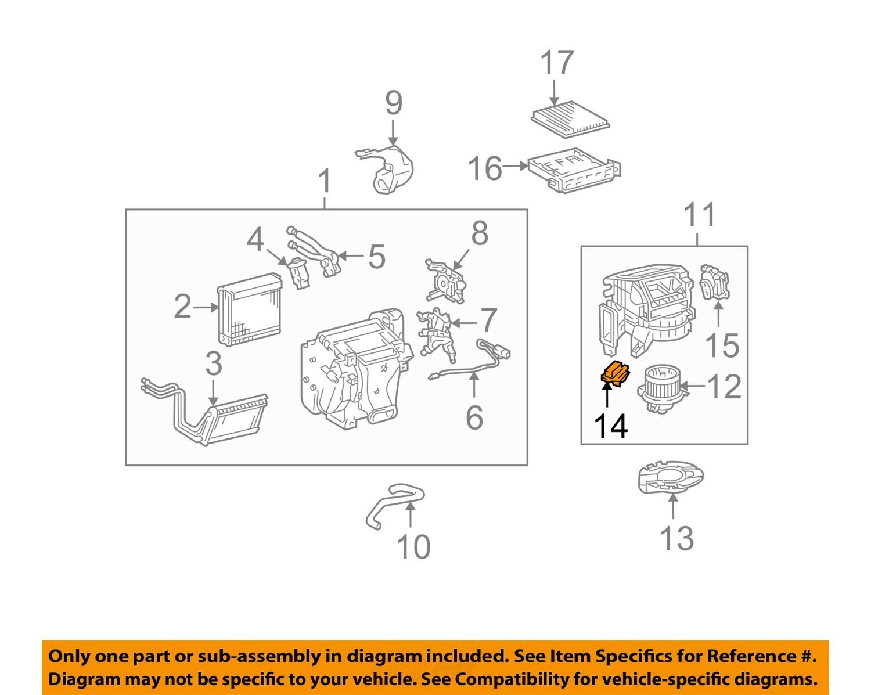 hight resolution of toyota oem 07 14 fj cruiser blower motor resistor 8713860280