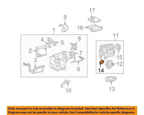 small resolution of toyota oem 07 14 fj cruiser blower motor resistor 8713860280