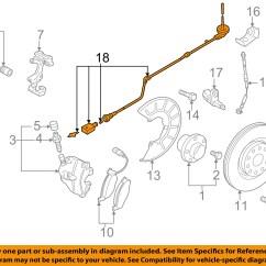 Vw Golf Mk5 Abs Wiring Diagram Volvo V70 2005 Volkswagen Oem 07 14 Gti Brake Front Sensor Wire