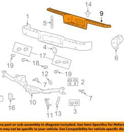 details about ford oem rear bumper step pad 7l3z 17b807 b factory 2004 2008 f 150 mark lt [ 1500 x 1197 Pixel ]
