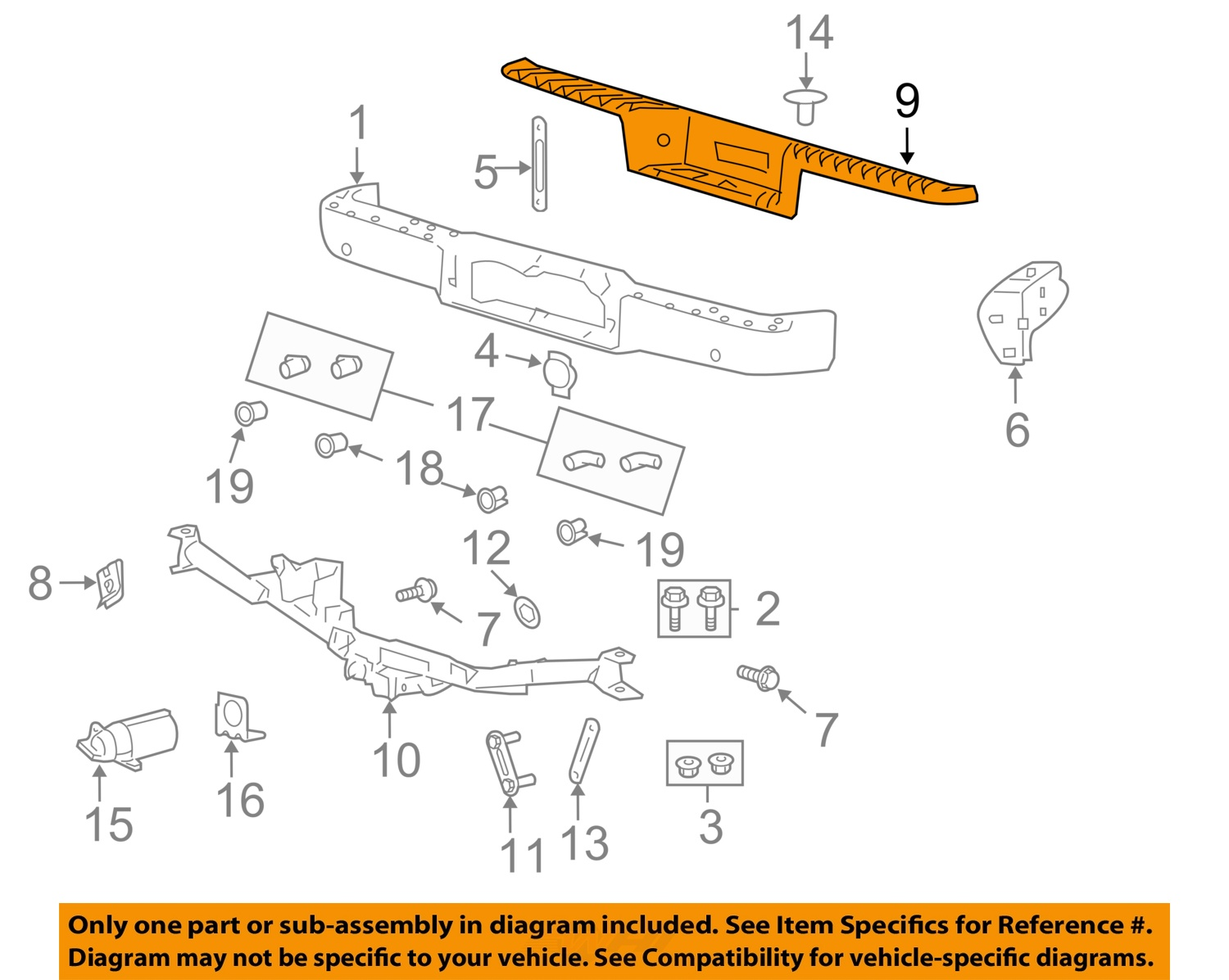 hight resolution of details about ford oem rear bumper step pad 7l3z 17b807 b factory 2004 2008 f 150 mark lt