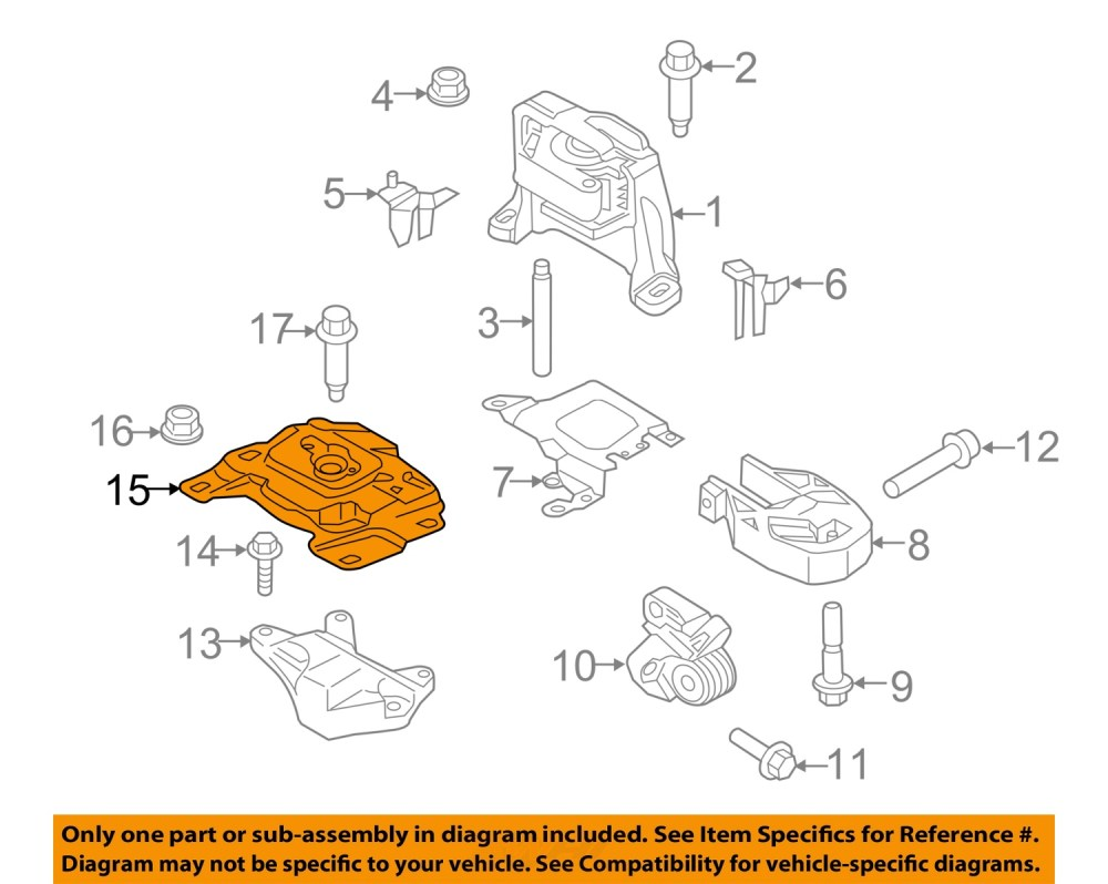 medium resolution of ford oem focus engine transmission mounting upper transmission mount av6z6068a