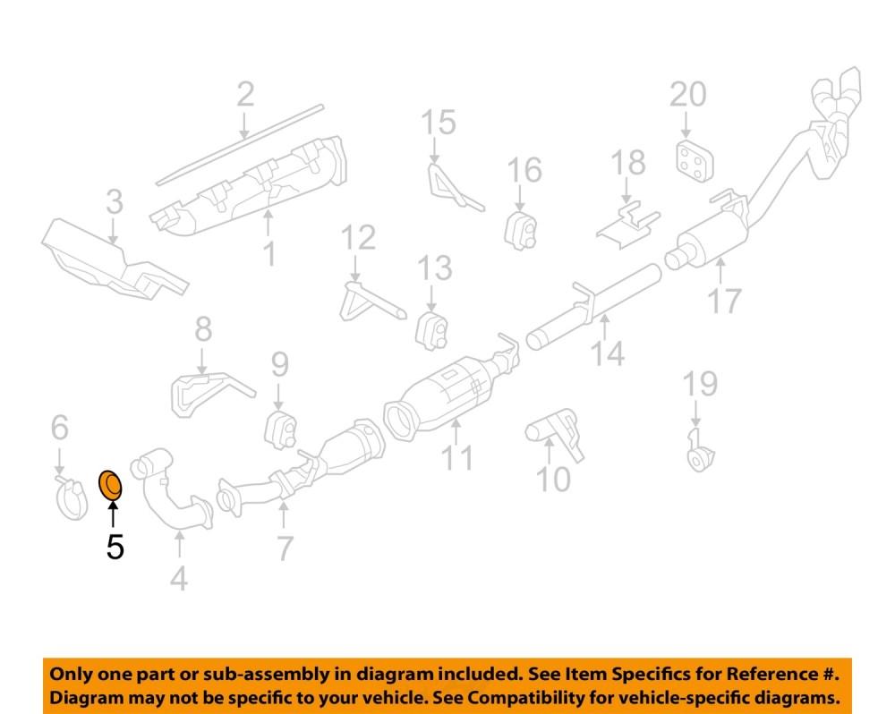 medium resolution of ford oem 08 10 f 250 super duty 6 4l v8 exhaust pipe gasket 7c3z6l612b