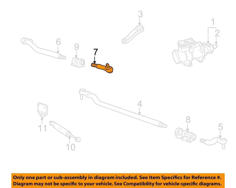 medium resolution of ford oem 99 07 f 250 super duty steering gear center link right ac3z3304c