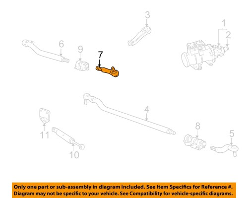 small resolution of ford oem 99 07 f 250 super duty steering gear center link right ac3z3304c