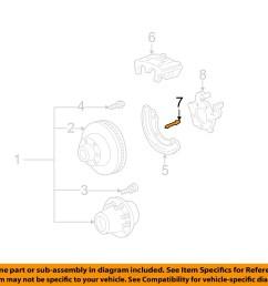 ford oem 99 04 f 250 super duty brake rear caliper pin f81z2c150ba [ 1500 x 1197 Pixel ]