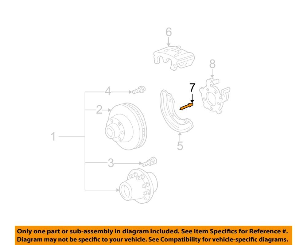 medium resolution of ford oem 99 04 f 250 super duty brake rear caliper pin f81z2c150ba