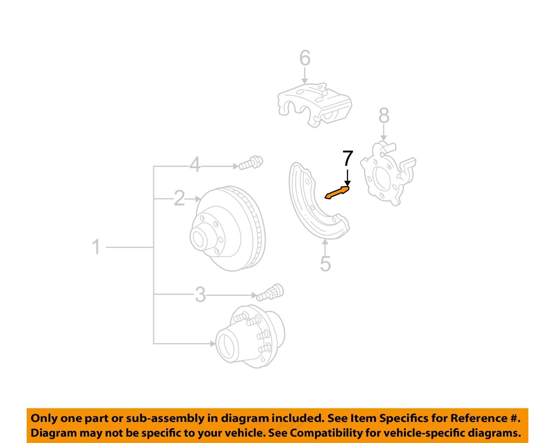 hight resolution of ford oem 99 04 f 250 super duty brake rear caliper pin f81z2c150ba