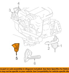 chrysler oem 07 08 pacifica engine torque strut mount 4809959ah [ 1500 x 1197 Pixel ]