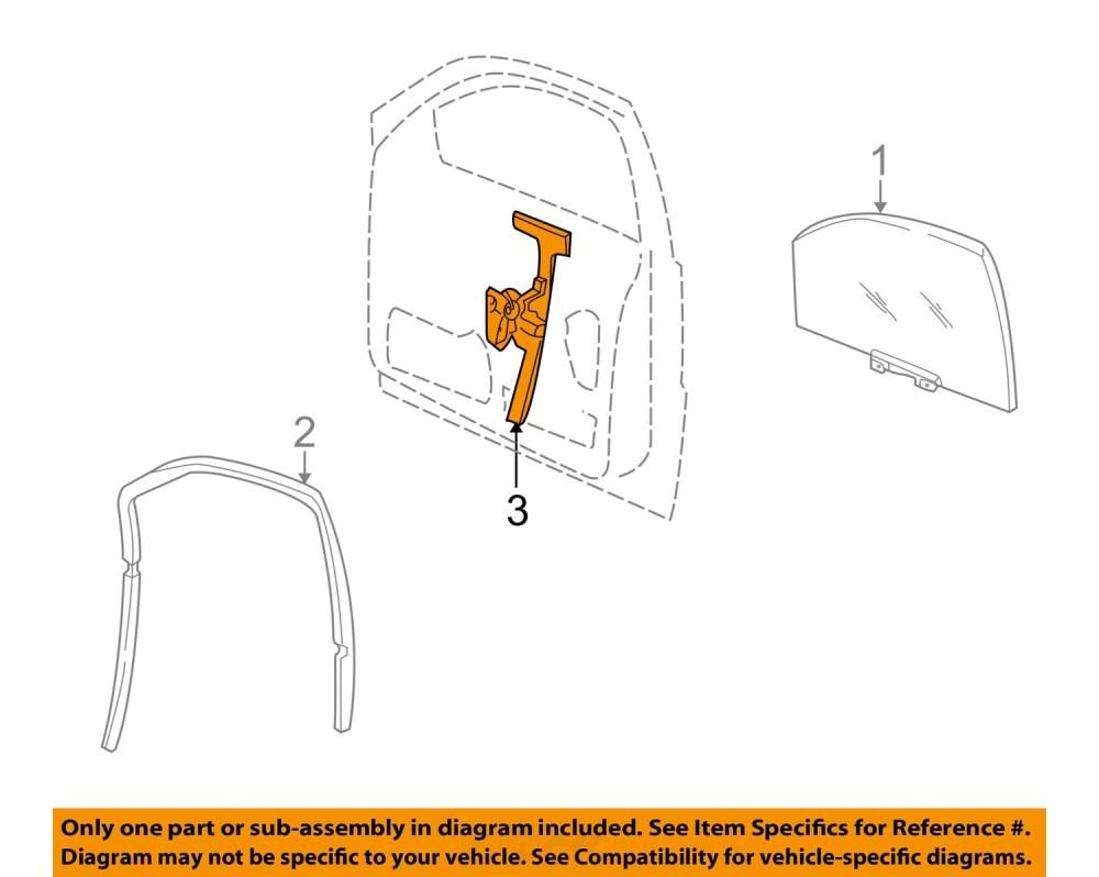 medium resolution of jeep chrysler oem 01 04 grand cherokee front door window regulator 55363286ae
