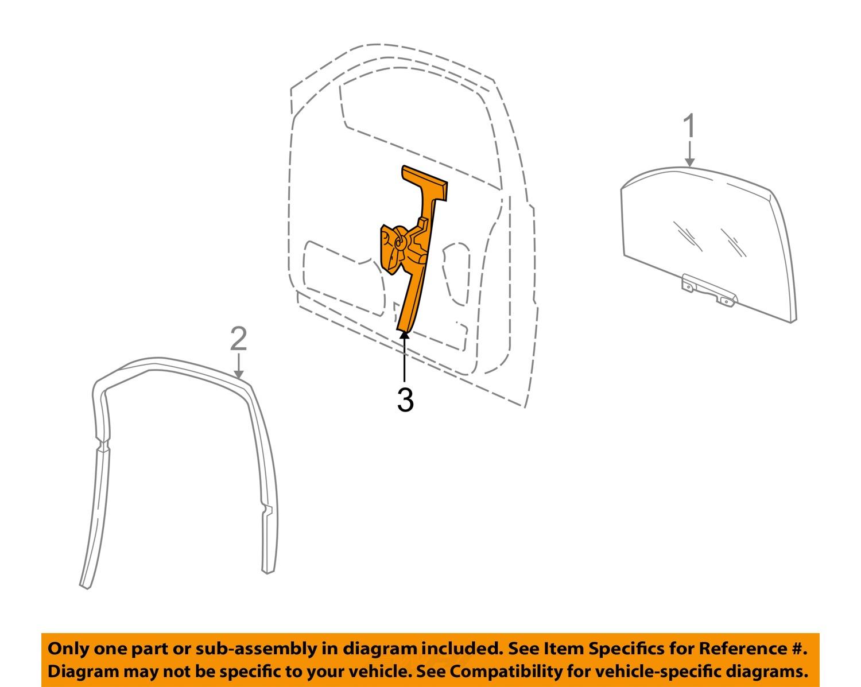 hight resolution of jeep chrysler oem 01 04 grand cherokee front door window regulator 55363286ae