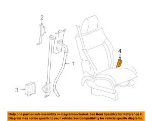 CHRYSLER OEM Front Seat BeltsInner Buckle Left 5KJ651DVAB