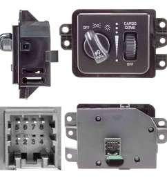 1998 dodge ram headlight switch wiring diagram headlight switch airtex  1s3852 fits 03 05