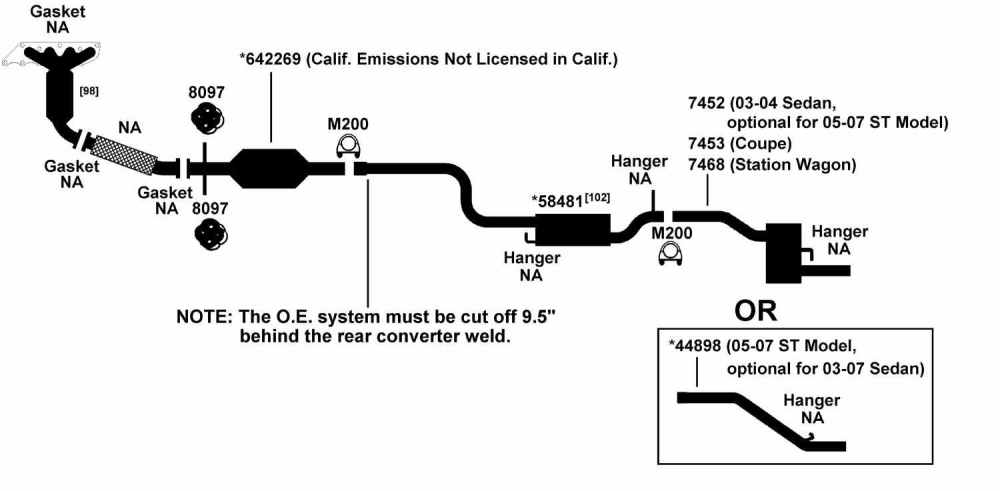 medium resolution of ford exhaust diagram wiring diagram forward subaru exhaust parts diagram exhaust diagram parts