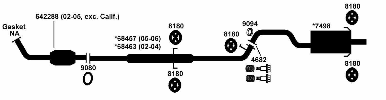 Honda Civic Exhaust System Diagram View Diagram