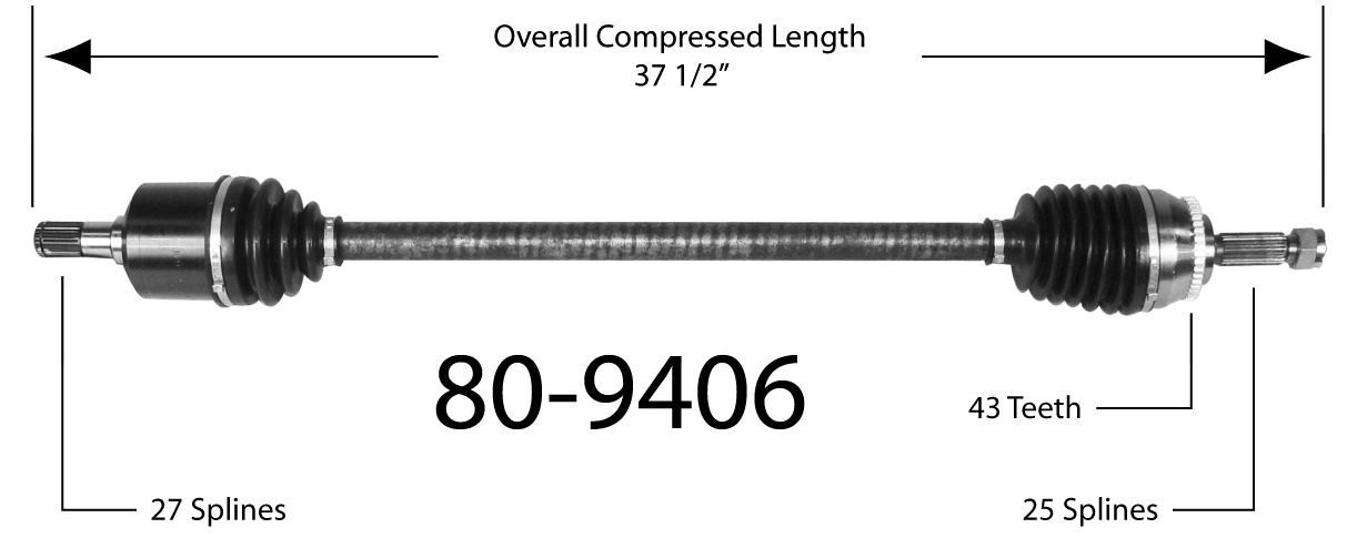 CV Joint Half Shaft fits 1994-1999 Mitsubishi Eclipse