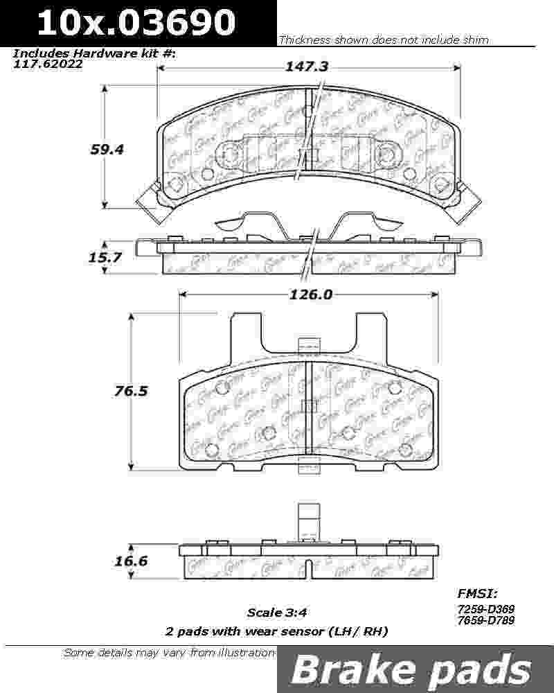 DODGE PICKUP RAM 1500 Brake Pads from Best Value Auto Parts