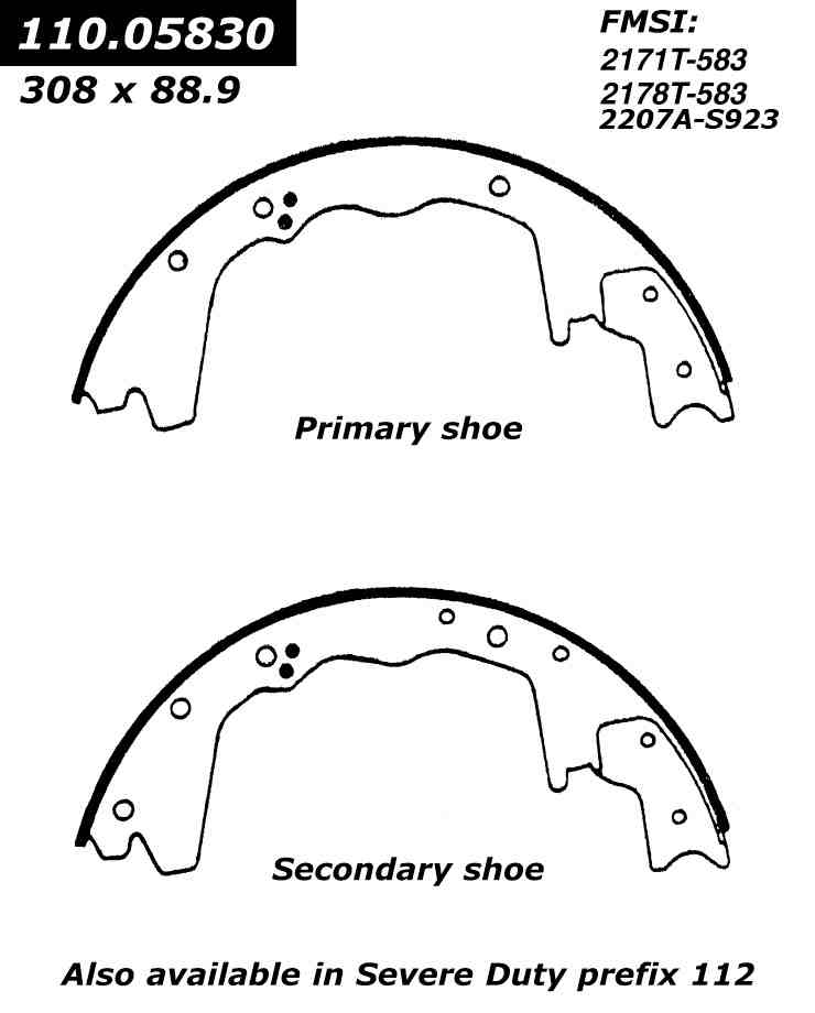 FORD ECONOLINE E350 Brake Shoes from Best Value Auto Parts