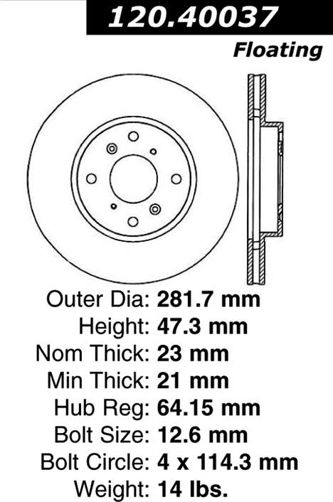 ACURA 3.0CL Front Brake Rotor from Best Value Auto Parts