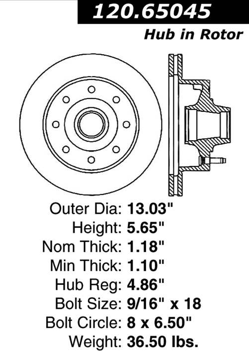 FORD ECONOLINE E350 Front Brake Rotor from Best Value Auto