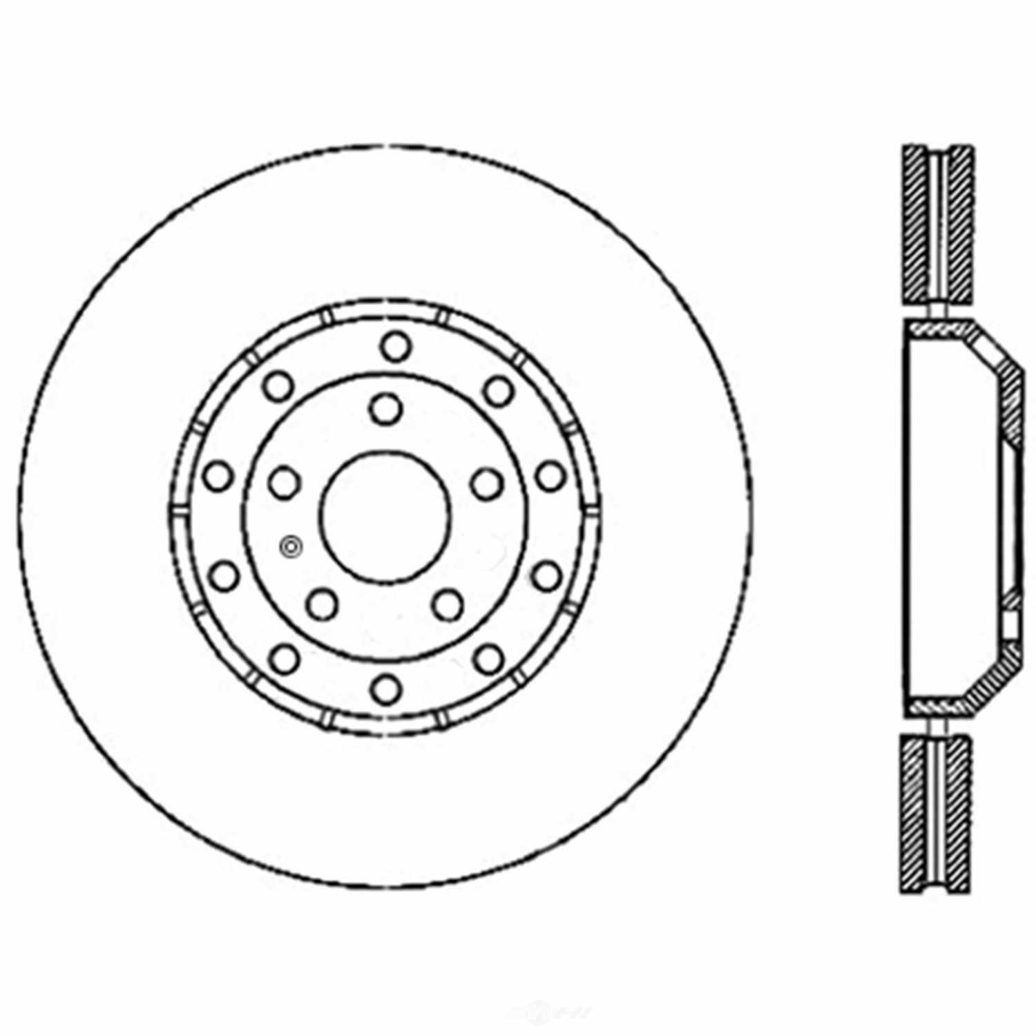 Disc Brake Rotor-OE Type Drilled Disc-Preferred Centric