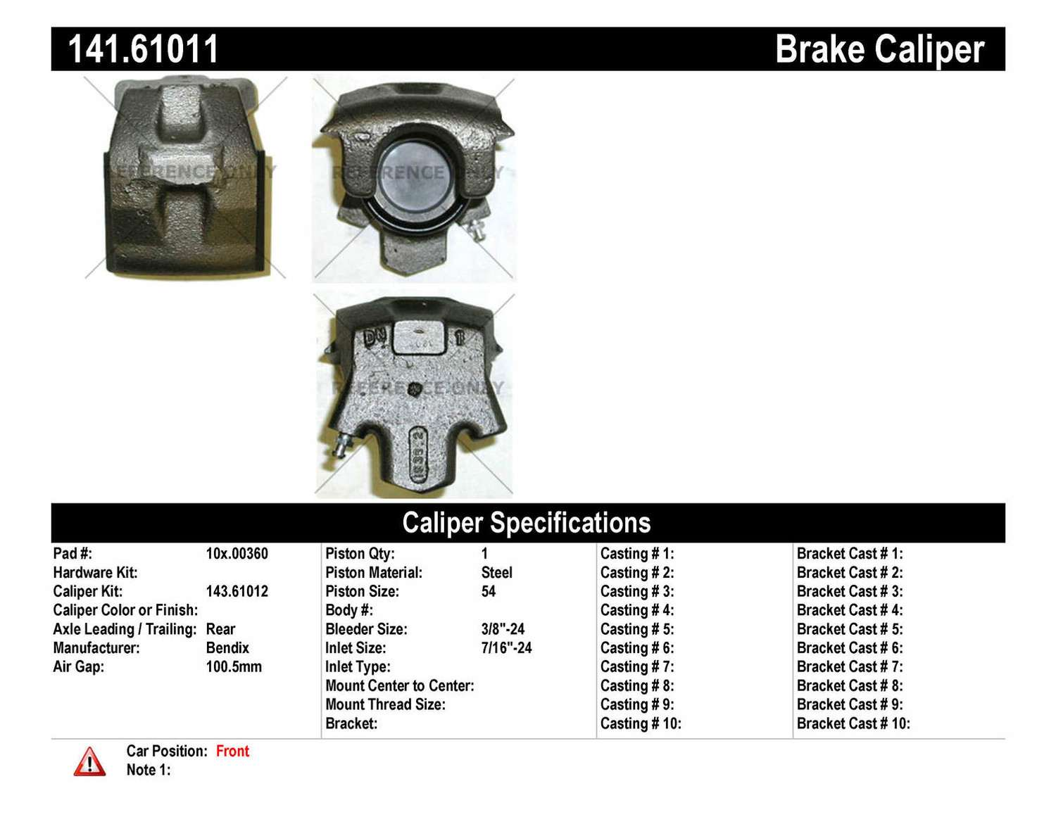 Disc Brake Caliper-Premium Semi-Loaded Caliper-Preferred