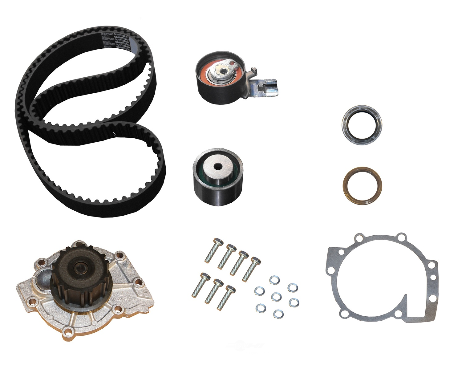 Engine Timing Belt Kit With Water Pump Natural Crp Fits 00